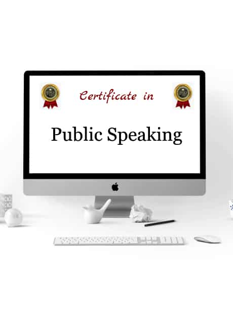 certificate in public speaking